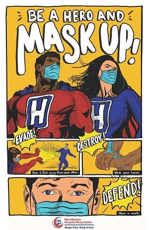 NMHA Mask-Up Kid's Poster